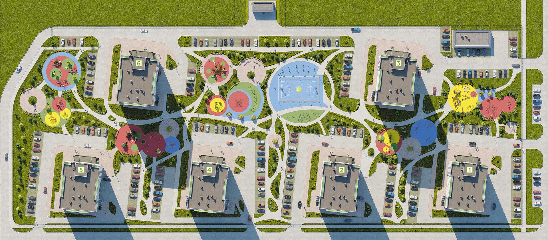 План двора ЖК «Арплевка»